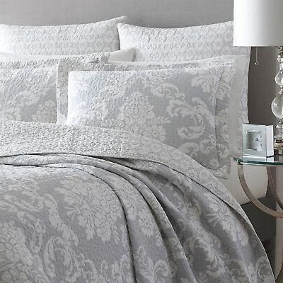 Laura Ashley Egg 3-Piece Quilt Cotton, Twin/Full/Queen/King