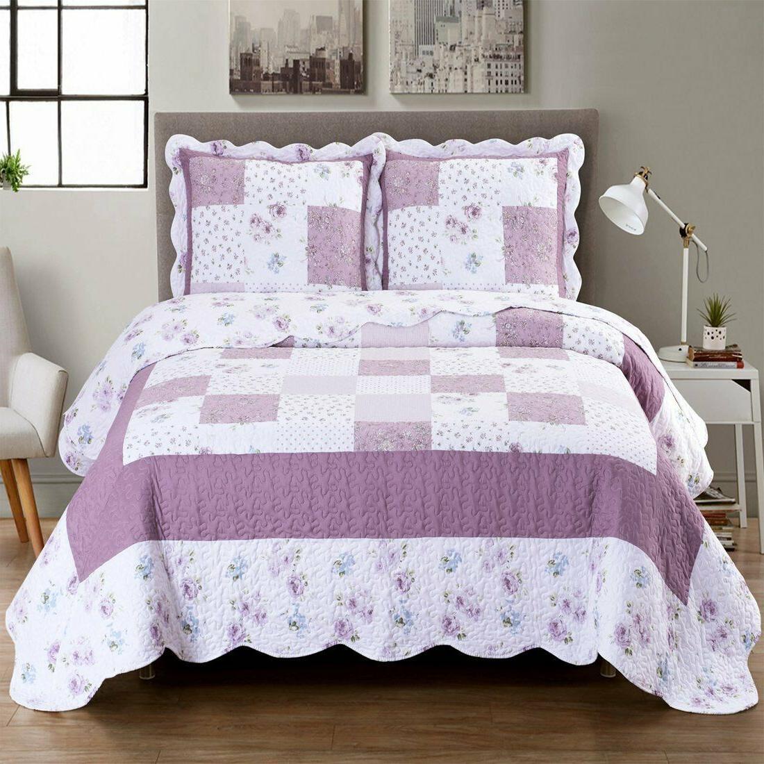 ventura oversized 3 piece quilt set lightweight