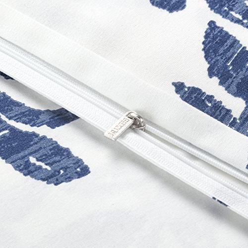 Bedsure Victoria Duvet Set with Zipper Closure Printed King -3 Hypoallergenic Microfiber
