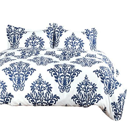 victoria blue modern duvet cover
