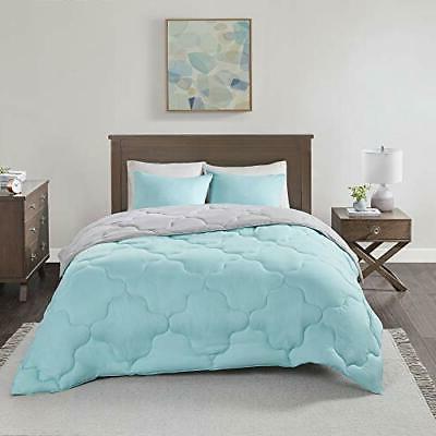 Comfort Piece Comforter Season Full Queen Aqua/Grey