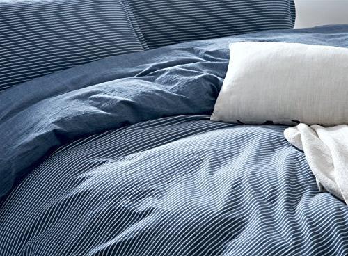 Eikei Washed Cotton Duvet Modern Set Soft Feel Natural Wrinkled
