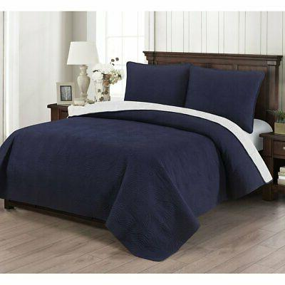 wave reversible oversized 3 piece quilt set
