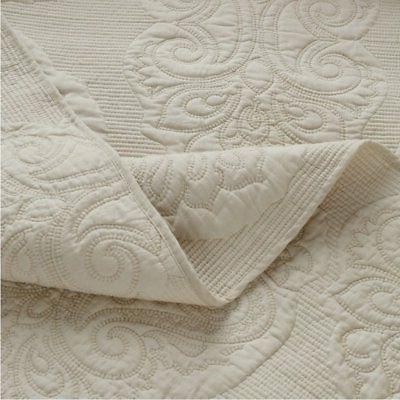 Brandream White Floral Comforter Set Queen Size Bed