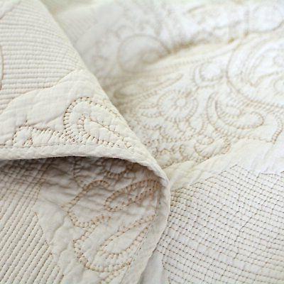 Brandream White Floral Comforter Set Queen Size Set