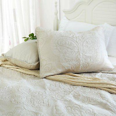 Brandream White Floral Comforter Set Size