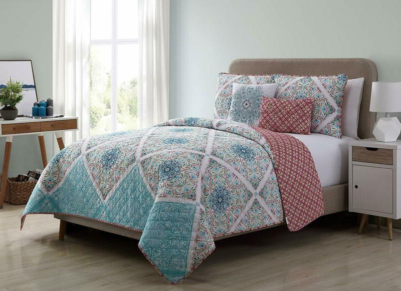 windsor 5 piece reversible quilt cover set