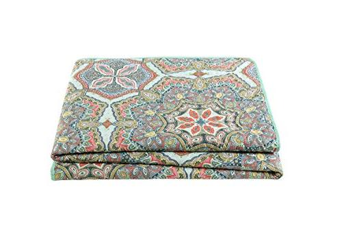 VCNY Reversible Quilt Set, King,