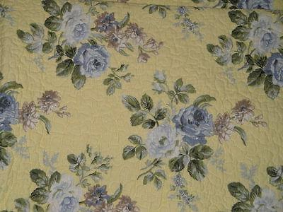 LAURA ASHLEY FLORAL Full 3pc Quilt Set COTTAGE NEW