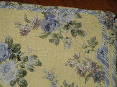 LAURA FLORAL Full Queen 3pc Quilt Set Linley NEW