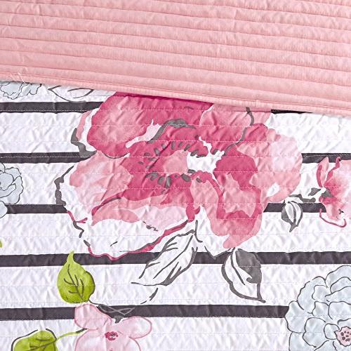 Comfort Spaces Zoe Mini Set 3 Piece - Microfiber Printed Vibrant Floral - 1 and Shams