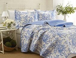 Laura Ashley Bedford Cotton Quilt Set, King by Laura Ashley