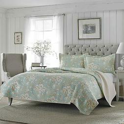laura ashley brompton serene reversible quilt set