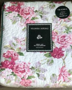 Laura Ashley Lidia Pink Lilac Rose Floral Reversible Cotton