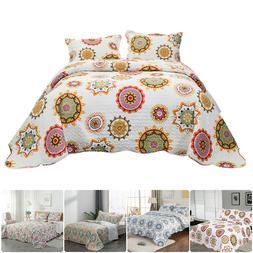 MOHAP Lightweight Bedspread Coverlet Set Printed Quilt Beddi