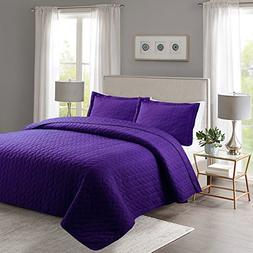 MarCielo 3 Piece Lightweight Bedspread Quilt Set Microfiber