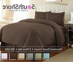 Southshore Fine Linens - 3 Piece Oversized Duvet Cover Set -