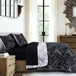 Southshore Fine Linens - Winter Brush Print Reversible Quilt