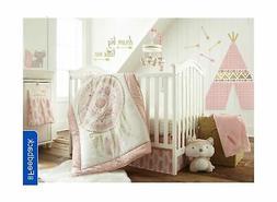 Levtex Baby Little Feather 5 Piece Crib Bedding Set - Coral