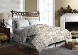 Pine Creek Lodge Reversible Comforter Set Including Shams -