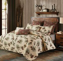 Lodge KING Quilt Set - Forest Pines Quilt and Standard Shams