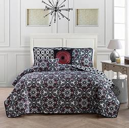 Avondale Manor Lola 5-piece Quilt Set Queen, Black