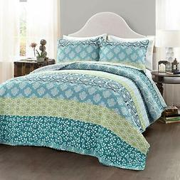 lush decor bohemian striped quilt reversible 3