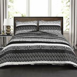 lush decor boho stripe quilt reversible 3