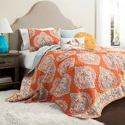Lush Décor Harley Quilt Damask Pattern Reversible 5 Piece S