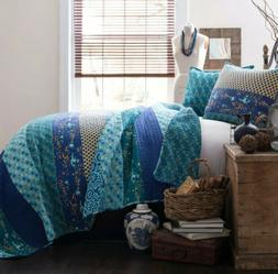 Lush Royal Empire Quilt Reversible 3 Piece Bedding Set Full/