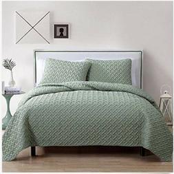 Luxurious Geometric Pattern Quilt Set by VC New York Brand N