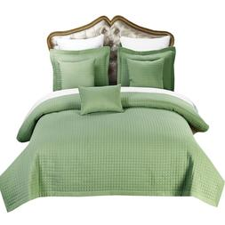 Luxury Checkered Quilted Wrinkle-Free 4-6 Piece Quilted Cove