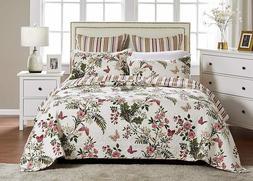 luxury designer 3 pc cal quilt set