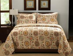 Luxury Designer 3 pc King/Cal King Quilt Set Antique Chic Ea