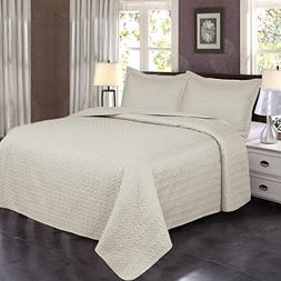 Jml Luxury Ultrasonic Twin Quilt Set with Shams - 2 Pieces -