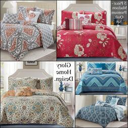 Madison - 5 Piece Reversible Premium Quilt Set and shams