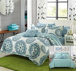 Chic Home 8 Piece Madrid Super soft microfiber Large Printed