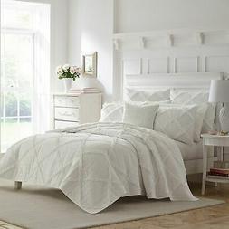 Laura Ashley Maisy Bedding, Full/Queen, White