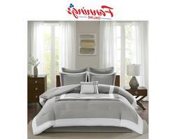 Comfort Spaces Malcom 7 Piece Comforter Set Ultra Soft Micro