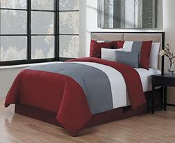 Avondale Manor Manchester 7 Piece Comforter Set, King, Burgu