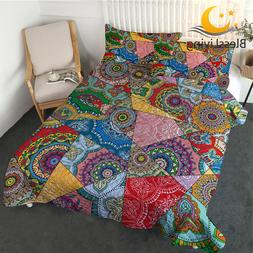 BlessLiving Mandala Thin Comforter <font><b>Set</b></font>