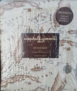 TOMMY BAHAMA MAP KING QUILT SET