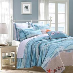 Greenland Home Fashions Maui Bonus Cotton Quilt Set 5 Piece