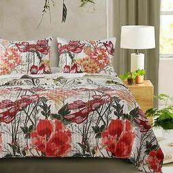 Barefoot Bungalow Meadow Reversible Quilt & Pillow Sham Set,