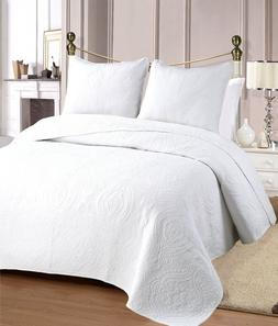 Medallion Reversible Cotton Quilt Set, Bedspreads, Coverlet