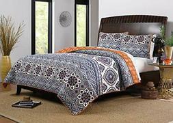 greenland home medina quilt set, 3-piece king/cal king, saff
