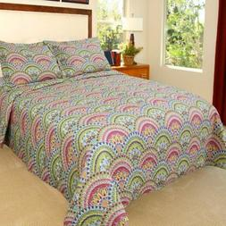Bedford Home Melanie Printed 2-Piece Quilt Set, Twin