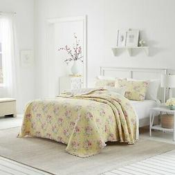 Laura Ashley Melany 1-Piece  Quilt Set, Cotton, Twin/Full/Qu