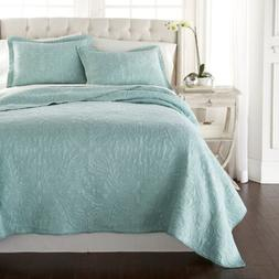 Melissa 3-Piece Seafoam Green Paisley Floral Soft-Washed 100