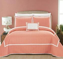 Chic Home Mesa 8 Piece Hotel Collection 2 Tone Banded Geomet